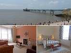 Enjoy Clevedon's beautiful seaside and Victorian Pier from a lovely Victorian apartment!