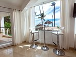 Your inside dinning area with beach view