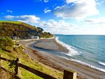 Seaton beach all year dog friendly. Waves Bar, restaurants and cafe dog friendly.