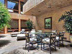 Lower Level Interior Patio with Jacuzzi