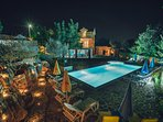 Villa Marijana near Makarska, with large swimming pool and beautiful views, fully enclosed.