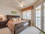 Bedroom 2 boasts a King size bed, opens to the upstairs Balcony & a 42 inch HDTV