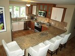 Newly Renovated Kitchen Area - Fully Equipped - Granite countertops. Fully Air-conditioned.