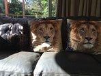 Lion cushions