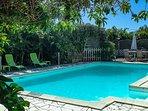 une piscine chauffée en hiver austral