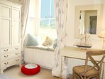 Bedroom 5 has inbuilt bunks for 2 people, with a view over Mousehole harbour