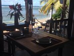 Dine on the terrace... overlooking the Ocean.