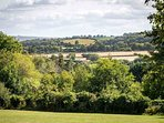 The beautiful rolling Cotswold hills around Blockley