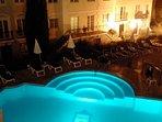 The Princess Pool at night