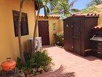 Patio area of the Aruba Studios