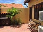 Porch in front of the Aruba Studios