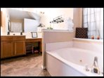 Ensure Master Bathroom with stand alone showere and jet-spa garden tub