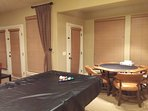 Pool table and poker table