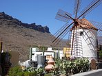 A windmill that you will pass if you decide to visit Mogan village.