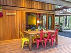 Dine alfresco in one of many outdoor living areas