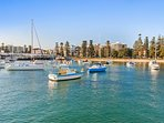 5 minutes walk to Manly cove