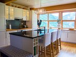 Kitchen with amazing view of the Geiranger fjord