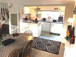 Well equipped kitchen -  dishwasher, halogen hob, microwave & all  you need for easy self-catering.