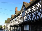 The impressive Tudor Porch House on Potterne High Street  (1 minute away)