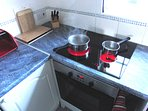 Halogen induction hob.
