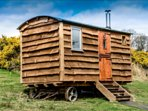 Authentic Shepherds Hut with Modern Twists loo/shower Wood Burner Insulation.  COSY OPEN ALL YEAR