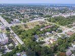 Ariel view of community and Bonita Beach drive down to Bay and beach