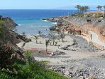 Beach Las Galgas (150 metres) with direct access