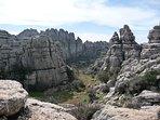 Paraje natural del Torcal de Antequera. Un paraje inigualable para disfrutar de su flora y fauna.