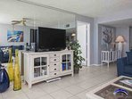 Entertainment center includes 42' TV, DVD player, Nintendo Wii, Xbox 360 and numerous games
