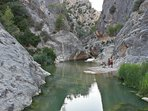 Gorge walk at Font de Calda 30 minutes by car from El Perello