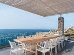 Sea front villa Penelope in Stavros