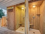 3 Outdoor Showers on 2nd Floor w/Hot & Cold Water