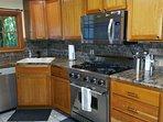 Beautiful kitchen. Viking range. Stainless applicances.