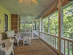 Admire the natural scenic views of the Appalachians from the private furnished patio!