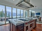 Double oven range with griddle, grill and what a view!