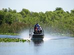 Private airboat tours available