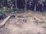 Fire pit to cook by, sing, tell stories