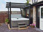Soak in the hot tub under the stars - bliss!