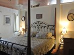 Your King Size bed, Satellite TV, Marble Bath, Air Conditioned, Gate House
