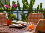 Relaxing terrace ambiance
