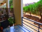 Balcony with garden view