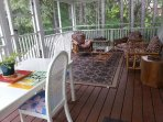 Ample seating in the back deck seating/dining area!