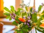 Welcoming flowers in Living room