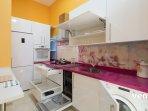 Included: fridge-freezer, dishwasher, washing-machine, vitroceramic stove, oven and microwave.