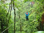 Nearby Zip Line tours through the jungle canopy