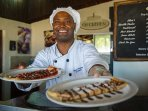 Enjoy some deliciously prepared crepes by the beach