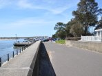 A view towards Mudeford Quay, with the holiday park to the right