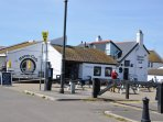 On Mudeford Quay, there is restaurant/cafe, the Haven House Inn, and the lifeboat house