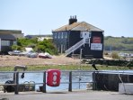 The view from Mudeford Quay across the river
