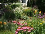 A young garden that blooms in all four seasons